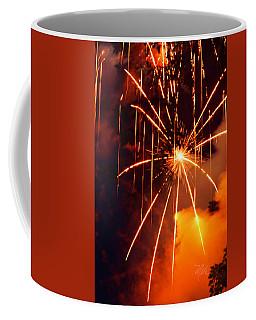 Orange Fireworks Coffee Mug