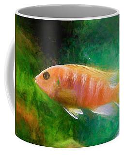 Orange Cichlid Chalk Smudge Coffee Mug