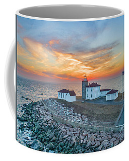 Coffee Mug featuring the photograph Orange Dreamsicle At Watch Hill by Michael Hughes