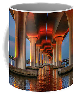 Orange Light Bridge Reflection Coffee Mug