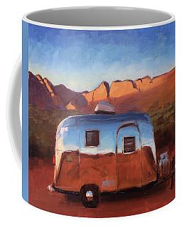 Orange Light On Red Rocks Coffee Mug