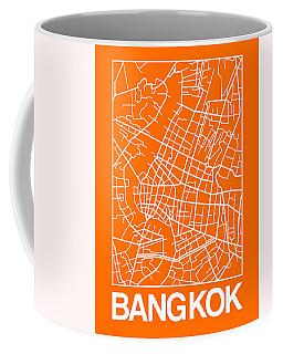 Orange Map Of Bangkok Coffee Mug