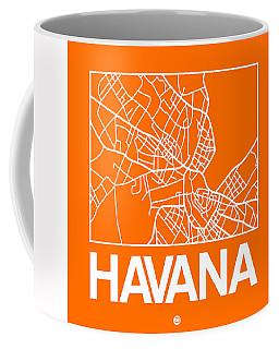 Orange Map Of Havana Coffee Mug