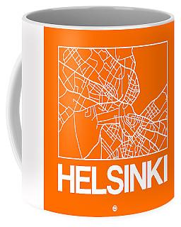 Orange Map Of Helsinki Coffee Mug