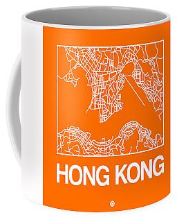 Orange Map Of Hong Kong Coffee Mug