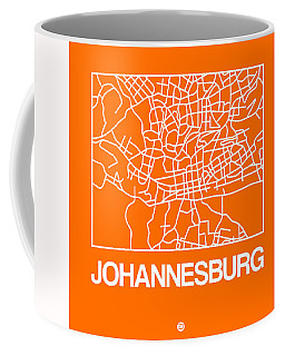 Orange Map Of Johannesburg Coffee Mug