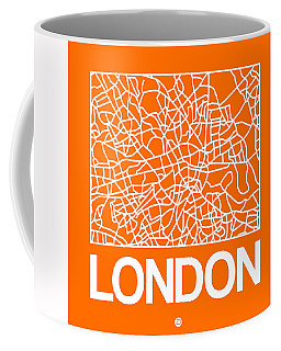 Orange Map Of London Coffee Mug