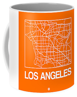 Orange Map Of Los Angeles Coffee Mug