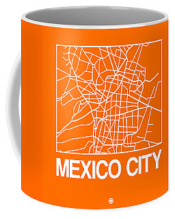 Orange Map Of Mexico City Coffee Mug