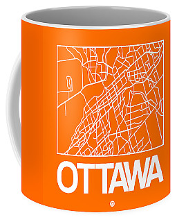 Orange Map Of Ottawa Coffee Mug
