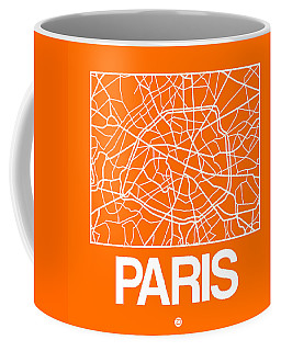 Orange Map Of Paris Coffee Mug