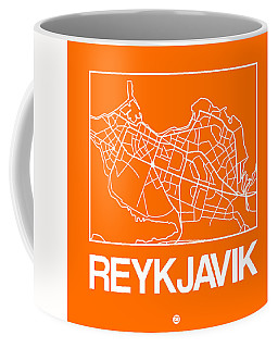 Orange Map Of Reykjavik Coffee Mug