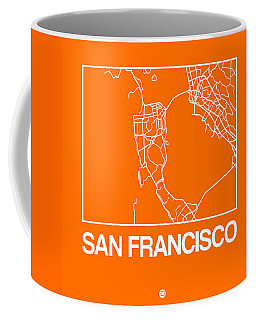Orange Map Of San Francisco Coffee Mug