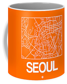Orange Map Of Sao Paulo Coffee Mug