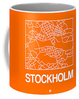 Orange Map Of Stockholm Coffee Mug