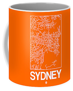 Orange Map Of Sydney Coffee Mug