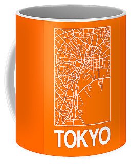 Orange Map Of Tokyo Coffee Mug
