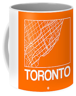 Orange Map Of Toronto Coffee Mug