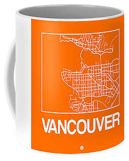 Orange Map Of Vancouver Coffee Mug