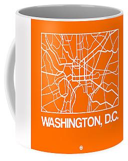 Orange Map Of Washington, D.c. Coffee Mug
