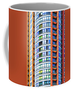 Orange, White And Blue Coffee Mug