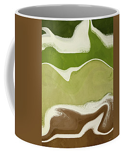 Coffee Mug featuring the mixed media Organic Wave 1- Art By Linda Woods by Linda Woods