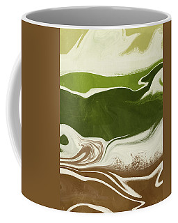 Coffee Mug featuring the mixed media Organic Wave 2- Art By Linda Woods by Linda Woods