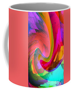 Original Fine Art Digital Abstract Warp10c Scaled Red. Coffee Mug