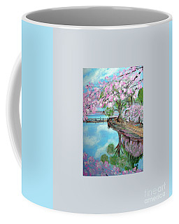 Original Painting. Joy Of Spring. Coffee Mug