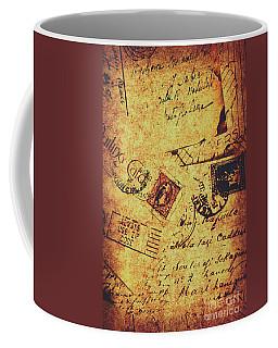 Ornate Postal Grunge Coffee Mug