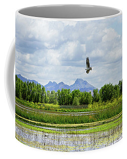 Osprey Over The Wetlands Coffee Mug
