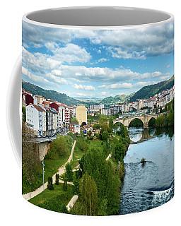 Ourense And The Roman Bridge From The Millennium Bridge Coffee Mug