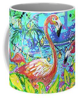 Outdoor Flamingo Party Coffee Mug