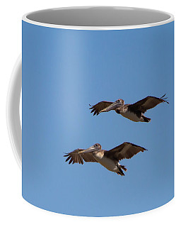 Coffee Mug featuring the photograph Outer Banks Pelicans by Lora J Wilson