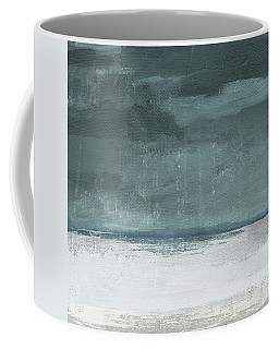 Coffee Mug featuring the mixed media Overcast 2- Art By Linda Woods by Linda Woods