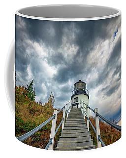 Coffee Mug featuring the photograph Owls Head Lighthouse by Rick Berk