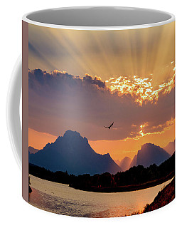 Coffee Mug featuring the photograph Oxbow Sunset by Mary Hone