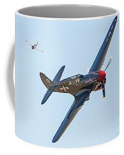 P-40 Warhawk Aircraft In Dogfight Coffee Mug
