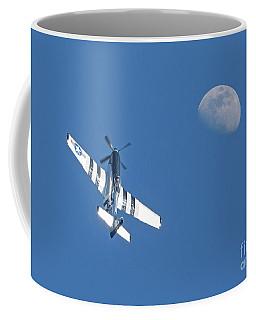 P-51 Mustang Fighter In Flight Coffee Mug