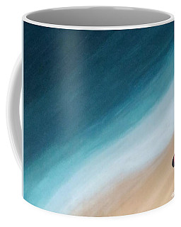 Pacific Ocean And Red Umbrella Coffee Mug