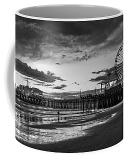 Pacific Park - Black And White Coffee Mug