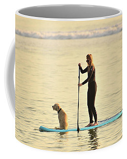 Paddleboarding With Her Dog Coffee Mug