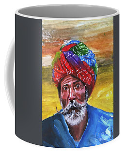Coffee Mug featuring the painting Pagdi by Nizar MacNojia