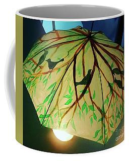 Painted Bird And Tree Umbrella Coffee Mug