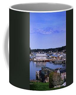 Painted Booth Bay Harbor, Me Coffee Mug