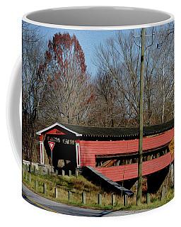 Painted Bridge At Chads Ford Pa Coffee Mug