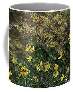 Painted Fall Flowers Coffee Mug