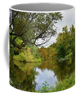 Painted Fall On The Back Pond Coffee Mug