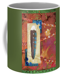 Painted Feather Coffee Mug
