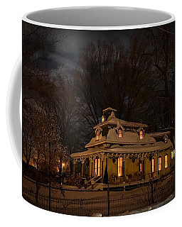 Painted Lady In Winter Coffee Mug